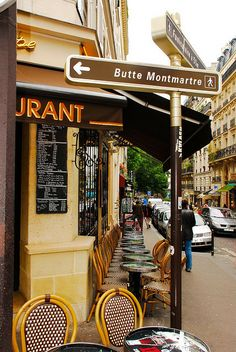 Adele: Everyone at this cafe in Montmatre knows Henrí and I, we call it our alternate dining room!