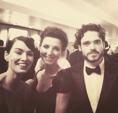 From the Emmy's - Lena Headey, Michelle Fairley & Richard Madden - edits of the flawless Game of Thrones cast Acteurs Game Of Throne, Michelle Fairley, Catelyn Stark, Game Of Thrones Cast, Got Dragons, King In The North, Dire Wolf, The Emmys, Richard Madden