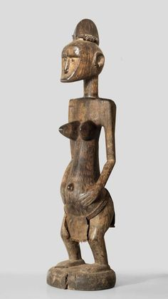 """A Bamana Muso Massa (Bambara: """"Große Frau"""") sculpture of the Songolo village 15 km from Tamani, from the other side of the river, about 50 km from Segou"""