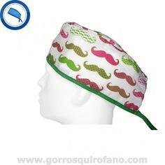 http://www.gorrosquirofano.com/producto/gorros-quirofano-bigotes-movember/ Gorros Cirugia Movember Bigotes Verde Fuxia