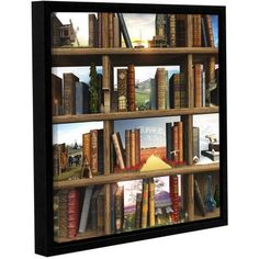 Cynthia Decker Story World Floater-Framed Gallery-Wrapped Canvas, Size: 18 x 18, Red