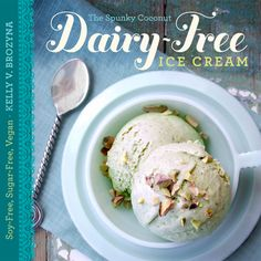 dairy free ice cream cookbook.  Also sugar-free and soy-free.  I've made the banana chocolate chip ice cream, and the mint ice cream and they are wonderful.  The kids can't get enough.  Just get a cuisinart ice cream maker, and you'll be all set.