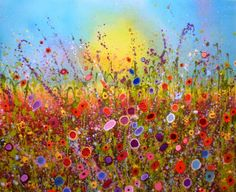 'My soul blossoms with your love' by Yvonne Coomber mixed media on canvas 120cm x 100cm £2600 (pay over 10 months with Own Art) in the gallery now www.lyndhurstgallery.com