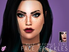 The Sims Resource: Jessi's Face Freckles by Senpai Simmer • Sims 4 Downloads