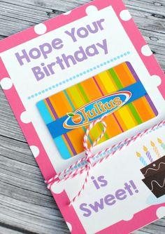 Free Printable Birthday Gift Card Holder