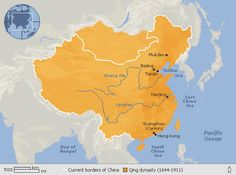 Manchu ruled China: Qing dynasty (1644-1911AD) - last imperial dynasty in China