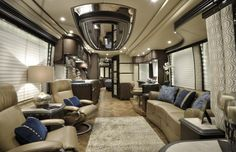 RV Hotels: 8 Most Expensive Motorhomes in the World: Prevost H3-45 VIP inside - Page 4 of 9 - Rich and Loaded