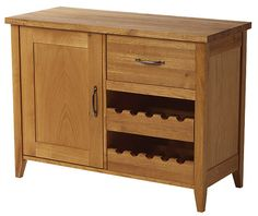 Wine rack and cupboard solid sideboard