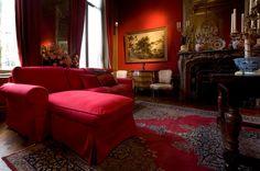 EKTORP sofa in the red room of Museum Geelvinck Amsterdam