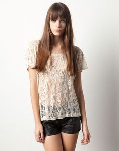 CAMISETA BLONDA COMBINADA - Pull and Bear ♥