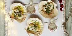Christmas canapé recipe: Scallops with caper and lemon butter sauce  - countryliving.co.uk