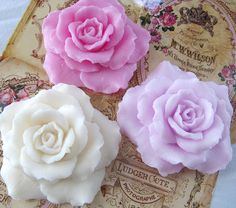 Rose Soap // I love these, just too pretty to use ! LOL