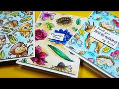 Creating three colorful cards with different techniques on bristol paper using Zig Clean Color Real Brush Pens. *** SUPPLIES LINKED TO STORES BELOW + SUBSCRI...