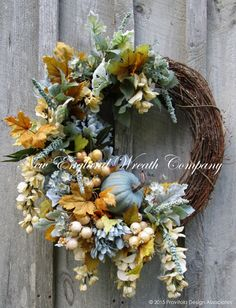 Elegant Autumn Country French Wreath  ~A New England Wreath Company Designer Original~