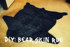 DIY Tutorial - Faux Bear Skin Rug - perfect for baby sylas's room prolly in a brown color would be good
