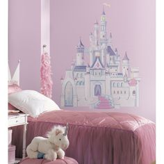 Disney Princess Castle with Glitter