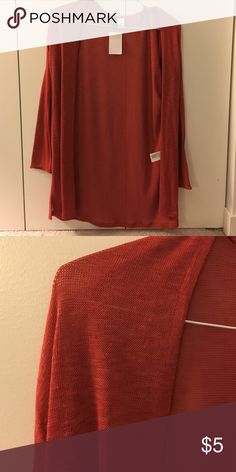 Lightweight H&M red-orange cardigan Lightweight H&M red-orange cardigan H&M Sweaters Cardigans