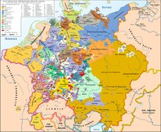 dynastic germanic holdings circa 1648, at the end of the 30 Years War http://muskingum.edu/~modern/german/1000Jahre/Barock/Zeitalter.html
