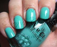 Voila! Tiffany blue nails!