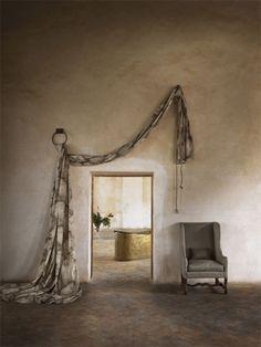 Esin Entry Stairs, Interior Decorating, Interior Design, Window Drapes, Rustic Elegance, Soft Furnishings, Bohemian Decor, Window Treatments, Interior Inspiration