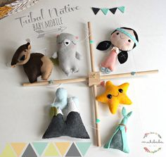 BABY MOBILE - Native Tribal Crib mobile, mountains, Indian Girl, Native American Girl, BUFFALO, grey bear, teepee, star,Custom Nursery Decor by mukibaba on Etsy https://www.etsy.com/listing/238875430/baby-mobile-native-tribal-crib-mobile