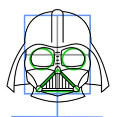 How to draw Darth Vader from Star Wars - completing the helmet Star Wars Cookies, Star Wars Cake, Star Wars Party, Star Wars Birthday, Cake Birthday, Darth Vader, Anniversaire Star Wars, Drawing Stars, Cake Drawing