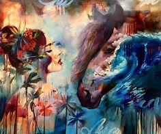 """So Leute, guckt es euch an: So malt man mit 16 Jahren! Zumindest, wenn man Dimitra Milan heißt. Die junge Frau aus Arizona ist so vernarrt in ihr """"Hobby"""", dass sie ihre Eltern – übrigens auch Künstler – darum gebeten hat, zu Hause unterrichtet zu werden. D"""