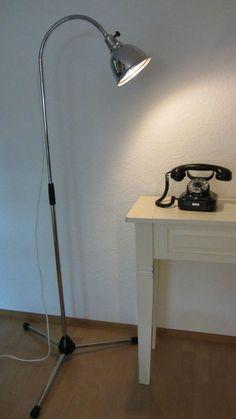Stehlampe Arztlampe Lampe Christian Dell Leuchte '30er Jahre Schwanenhals | eBay