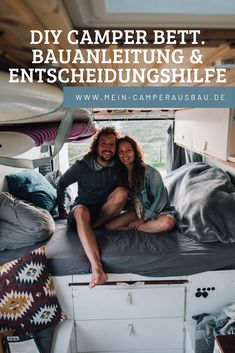 DIY camper bed building instruction & decision support The own bed in the caravan is an importan Autos Mercedes, Bmw Autos, Camper Beds, Bus Camper, Camper Diy, Sprinter Camper, Diy Van Conversions, Vw Crafter, Audi