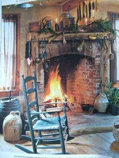 old fireplace crocks . love this whole room. old fireplace crocks . love this whole room., crockslove Fireplace Primold ROOMDesigner furnitureMagis Paso Doble Low Chair with low back, only for Primitive Homes, Primitive Fireplace, Old Fireplace, Fireplaces, Primitive Country, Country Decor, Rustic Decor, Rustic Room, Country Charm
