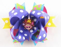 Boutique Fancy Nancy Hair Bow by bowsbychristy on Etsy
