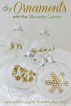 diy ornaments with sihouette cameo