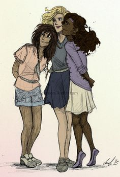 Annabeth Chase, Piper Mclean, and Hazel Levesque