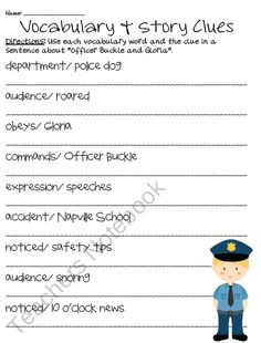 Printables Officer Buckle And Gloria Worksheets officer buckle and gloria textbook comprehension on pinterest