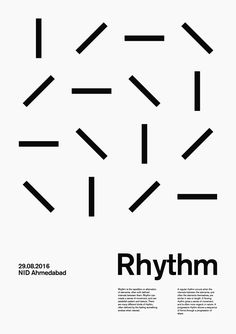 "choco-joint: "" Rhythm. / Rhythm is the repetition or alternation of elements, often with defined intervals between them. Rhythm can create a sense of movement, and can establish pattern and texture. There are many different kinds of rhythm, often..."