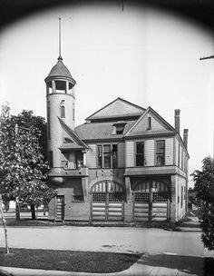 Engine House (Chemical Engine #2 Quarters at Broadway and Terrace) Seattle, Washington. 1910  (Engineering Department Photographic Negatives)