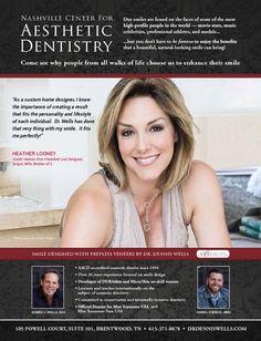 smile design by #DrDennisWells #BrentwoodTN #BrentwoodLifestyleMagazine #HeatherLooney