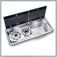 Space saving RV kitchen sinks and hobs from a world leading brand ✅ Sink and stove combos ✅ Easy to clean ✅ Compact ✅ Heat resistant glass lids ✅ For boat and RV Accessoires Camping Car, Ducato Camper, Water Plumbing, Classic Campers, Camper Kitchen, Mini Kitchen, Heat Resistant Glass, Camper Van Conversion Diy, Teardrop Trailer