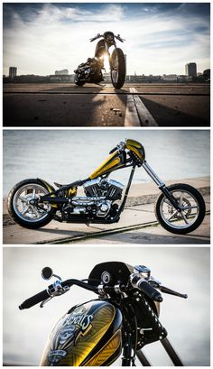 You don't have to be a cowboy to ride off into the sunset. You can take this beautiful highnecker, which was customized by @mbcycles. Parts of @motogadget: The mst speedster and m.can j1850. Would you make a ride-out? Photos by @daguruphotography