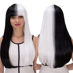#Twinkledeals - #TwinkleDeals Long Full Bang Straight Tail Adduction Double Color Cosplay Synthetic Wig - AdoreWe.com