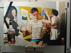 Diego Gravinese, paintings.