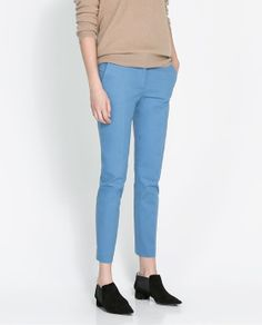 ZARA - WOMAN - CHINO TROUSERS WITH POCKET