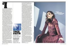 Guardian g2 cover: Spread from Film&Music: Banks. #editorialdesign #newspaperdesign #graphicdesign #design #theguardian