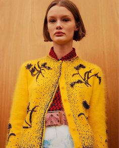 """I didnt want to (reference the 70s) but it came out naturally it was a very important period for protests rights. Now protests are very necessary"" - #MiucciaPrada Read more about last night's @prada show at http://ift.tt/1qOy9zk. @virginiaarcaro #AW17 #MFW via DAZED AND CONFUSED MAGAZINE OFFICIAL INSTAGRAM - Fashion Culture Advertising Editorial Photography Art Music Film"