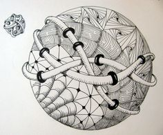 """Doodles. Keep my hands busy when I am not stitching. These are mostly in the """"zentangle"""" style, a meditative and deliberate form of doodling."""