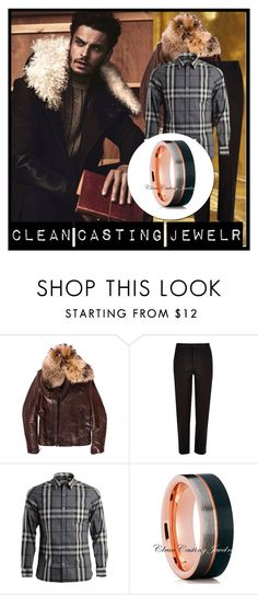 """""""CleanCastingJewelr  5"""" by zehrica-kukic ❤ liked on Polyvore featuring Balmain, River Island, Burberry, men's fashion and menswear"""