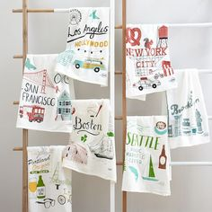 Brooklyn artist Claudia Pearson has illustrated everything from children's books to New Yorker pages. Here, she's designed tea towels based on her quirky hand-drawn city maps.