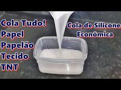 COLA DE SILICONE CASEIRA - COLA TUDO! PAPEL/PAPELÃO/ TECIDO/ TNT - YouTube