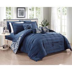 chic home zarina bib navy 10piece comforter set navy by chic home