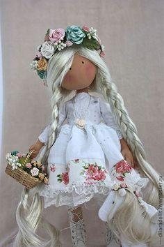 """Коллекционные куклы ручной работы. Ярмарка Мастеров - ручная работа текстильная кукла """"Allma"""" резерв. Handmade."""